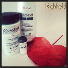 #kerastase #hair #richfieldhairdressing Autumn is the time for rejuvenating & strengthening....... The Resistance range by Kerastase will do exactly that!  It will strengthen weakened, damaged or fine hair as well as regaining vitality & creating body.