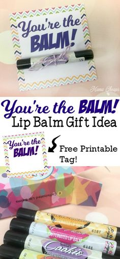 You're the BALM Lip Balm Teacher Gift Idea + Free Printable Tag Check out this sweet and simple Lip Balm Teacher Gift Idea for Teacher Appreciation Day. Post includes the printable gift tag for free. Cheer Sister Gifts, Secret Sister Gifts, Secret Pal, Cheer Gifts, Diy Gifts For Friends, Team Gifts, Cheer Mom, Coach Gifts, Teacher Birthday Gifts