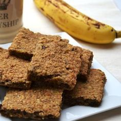 These Banana Flapjacks are delicious, easy to make, far healthier than traditional flapjacks and also a great way to use up over ripe bananas. Banana Flapjacks are great for lunchboxes and breakfast on the run as they last for around 4 days in a sealed tub. Kids love them and they are cheape