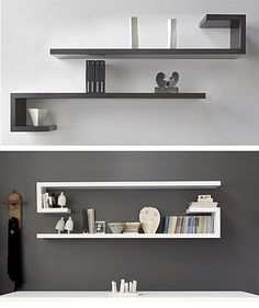 Most Unique Minimalist Wall Rack Design Ideas To Enhance Your Room Beauty The walls will not interfere with your traffic at home, but on the side a bit to make the eyes become irritate - Wall Rack Design, Wall Shelves Design, Diy Wall Shelves, Wall Racks, Floating Shelves, Corner Shelves, Unique Shelves, Bookshelf Design, Diy Wall Decor