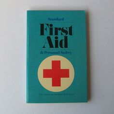 Vintage FIRST AID Medical Book Vintage first aid book from 1977 published by The American Red Cross. Besides being a useful book, it has interesting pictures and typography. books Vintage FIRST AID Medical Book