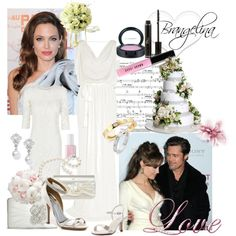 Angelina Jolie & Brad Pitt are engaged!, created by enjoyjessica on Polyvore