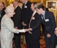 Niall Horan with the Queen