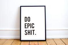 Printable Art Poster Dorm Decor Motivational Quotes