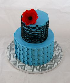 Cake I made after taking jessicakes class on craftsy