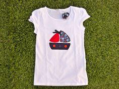 POR-TELITAS: camiseta barco niña
