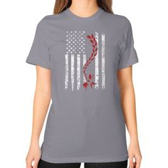 Apparels redhead flag Unisex T-Shirt (on woman)