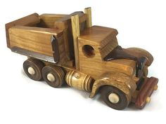Wooden Dump Truck Toy Truck  FREE Shipping in U.S.A. Handmade from Hardwood # 160120
