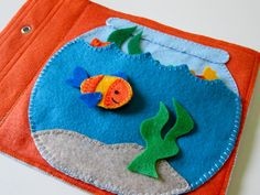 Fish Bowl Quiet Book Page by FreckledFelt on Etsy