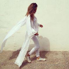 #Bakchic#Kaftan#Saint-Tropez#White#Morocco  www.bakchic.com