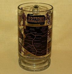 Vintage Arizona Mug Stein Beer Tankard Vintage H H Tammen Souvenir Cup Gold Grand Canyon Federal Glass Arizona Glass Beer Mug http://www.amazon.com/dp/B0154DNYPU/ref=cm_sw_r_pi_dp_7gr8vb1AQ87NX