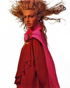 Michaela Bercu, Patrick Demarchelier, Fascinator, Supermodels, Vintage Fashion, Vogue, Dreadlocks, Hair Styles, September
