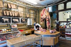 Allens of Mayfair , traditional butchers shop in Mount Street , London , UK stock photo