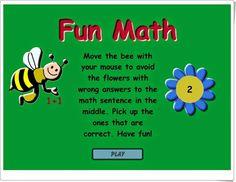 """""""Fun Math"""" es un sencillo juego en el que los más pequeños pueden practicar sumas mentales haciendo que las abejas piquen en las flores que sean resultado de la suma planteada."""