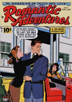 Romantic Adventures May June 1949 Long Distance Love, Romance Comics, Comics Story, True Romance, Script Lettering, Drama Queens, Comic Covers, Ink Color, Love Story