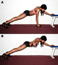 Another pinner wrote: Side Plank T Raise. Holy plank. You better have strong shoulders and a mean core.