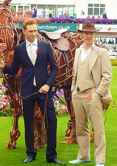 Tom dresses like a dapper London gent and Ben dresses like an eccentric millionaire's son. I love it.