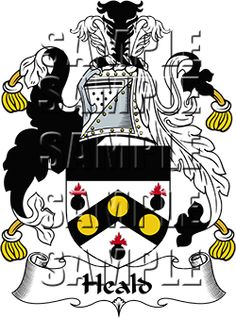 Heald Family Crest apparel, Heald Coat of Arms gifts