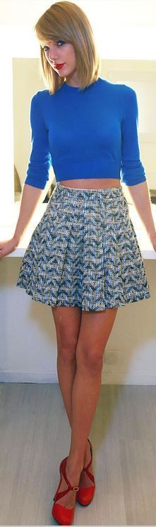 Taylor Swift wearing 10 Crosby Derek Lam. Come find this collection at GIGI of Mequon