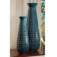 "Tall Graffiti Vase   Global Views Measurements: Small: 7.25""Dia. x 21.75""H Large: 10""Dia. x 30""H"
