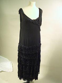 Chanel beaded evening dress, 1920s by TinTrunk, via Flickr