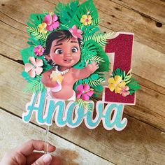 Check out our moana cake topper selection for the very best in unique or custom, handmade pieces from our party décor shops. Moana Birthday Decorations, Moana Birthday Party Theme, Moana Decorations, 2nd Birthday Party For Girl, Moana Themed Party, 1st Birthday Cake Topper, Festa Moana Baby, Custom Cake Toppers, First Birthdays