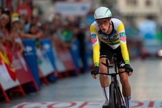 BMC Racing Team's Australian cyclist Rohan Dennis rides in Malaga during the first stage of the 73rd edition of 'La Vuelta' Tour of Spain cycling race, an 8 km individual time trial from Malaga to Malaga, on August 25, 2018. (Photo by JORGE GUERRERO / AFP)        (Photo credit should read JORGE GUERRERO/AFP/Getty Images)