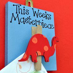 This Weeks Masterpiece Dinosaur Wooden Peg