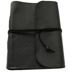 Large Handmade Black leather journal, notebook, diary, travel journal,... ($53) ❤ liked on Polyvore