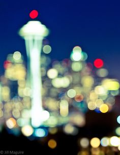 Seattle Space Needle - 8x10 Fine Art Photograph Print of the Seattle skyline from Queen Anne's Kerry Park