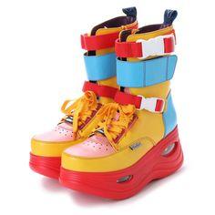ヨースケ YOSUKE ハイカット厚底スニーカー (マルチ) -YOSUKE U.S.A 公式オンラインストア Kawaii Shoes, Kawaii Clothes, Cute Shoes, Me Too Shoes, Fashion Shoes, Fashion Outfits, Mode Vintage, Character Outfits, Look Cool