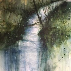 Watercolor Landscape, Abstract Watercolor, Watercolor And Ink, Abstract Landscape, Abstract Art, Encaustic Painting, Printmaking, Fine Art, Background Ideas