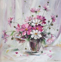 натюрморт цветы в стеклянной вазе - Поиск в Google