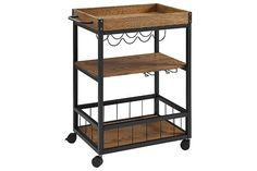 Linon Austin Kitchen Cart by Ashley HomeStore, Black