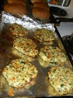 White Cheddar and Spinach Chicken Burgers - Low Carb, just leave out the bun or use a low carb bun.