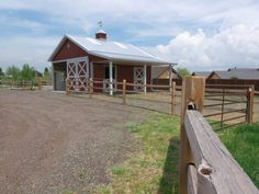 This horse barn was built for Bill of Golden, CO Special Features: Morton's Hi-Rib Steel Double Dutch Doors Cupola Skylights Porch Diamond 'M. Dream Stables, Dream Barn, Horse Stables, Horse Farms, Small Horse Barns, Horse Shelter, Morton Building, Run In Shed, Barns Sheds
