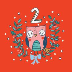 'Day 2 - Advent by Lisa Barlow (Milk & Honey Studio) 2 Advent, Advent 2016, Countdown Calendar, Wise Owl, Milk And Honey, Christmas Projects, Insta Art, Rooster, Lisa