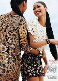 Jourdan Dunn & Chanel Iman