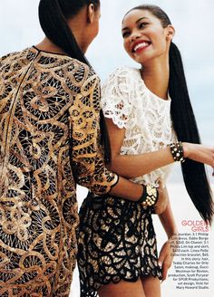 Jourdan Dunn & Chanel Iman
