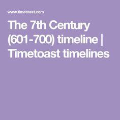 The 7th Century (601-700) timeline | Timetoast timelines
