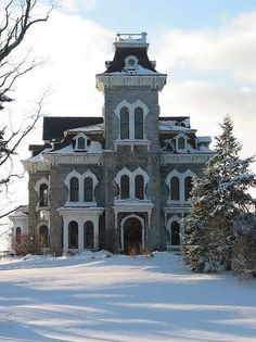 A 3 to 4 story immense early Victorian house is unique & quite handsome.