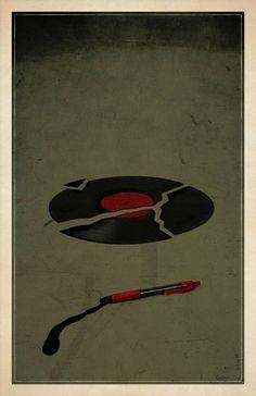Minimalistische Horror Film Poster