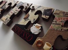 I want to try and make this.  Kitchen sign - coffee theme