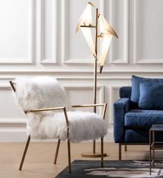 Beauty Room, Home Lighting, Accent Chairs, English, Blue, Furniture, Home Decor, Upholstered Chairs, Decoration Home