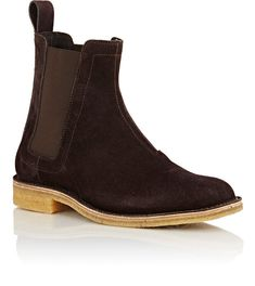 Handmade mens chelsea suede leather boots, Mens brown chelsea suede boots - Boots