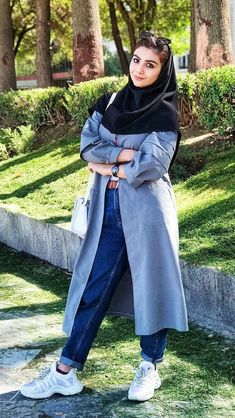"Iranian girl in Iran. ""Best Iranian fashion"" is published by aroosiman. Iranian Women Fashion, Islamic Fashion, Star Fashion, Fashion Outfits, Womens Fashion, Fashion 2020, Niqab, Stylish Clothes For Women, Street Style Women"