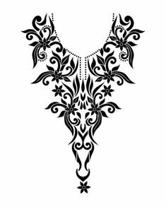 Illustration about Vector baroque neck line design made by small design elements. it can use in embroidery, printing and laser cut panels. Illustration of antique, decoration, ethnic - 137373544 Border Embroidery Designs, Embroidery Suits Design, Embroidery Motifs, Beaded Embroidery, Mid Century Modern Fabric, Cnc Cutting Design, Classy Tattoos, Laser Cut Panels, Baroque Design