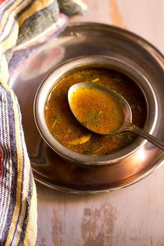 pepper cumin rasam recipe with step by step photos. milagu jeera rasam is a spicy, tangy and hot rasam thats good during the winters. the rasam recipe is easy & does not require rasam powder. excellent remedy for cough and cold. Andhra Recipes, Indian Veg Recipes, Indian Soup, Indian Dishes, Easy Healthy Recipes, Vegetarian Recipes, Easy Meals, Curry Recipes, Soup Recipes