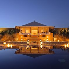 THE SERAI, JAISALMER Rajasthan, India — Set on a hundred-acre estate in the medieval city of Jaisalmer, a desert way station that's been welcoming traders and travelers for the better part of a millennium, the Serai's airy tented suites start out lavish and only get better from there, culminating in a royal suite that, with its own separate dining and entertaining tents, truly lives up to its name.