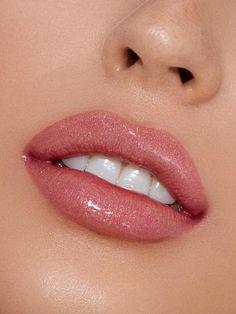 Damn Gina is a soft shimmering peach-pink. Contains: 1 Gloss oz. Thin Lips, Dark Lips, Soft Lips, Basic Makeup, Makeup Tips, Eye Makeup, Beauty Makeup, Big Lips Natural, Restylane Lips